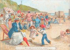 How has life changed from Victorian seaside holidays to modern day? Why not show this picture to your class and find out what they think.