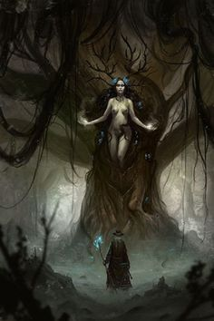 Queen of the Dryads by Coliandre