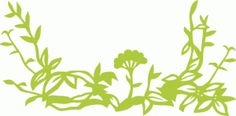 Silhouette Design Store - View Design #72415: floral leaves decoration