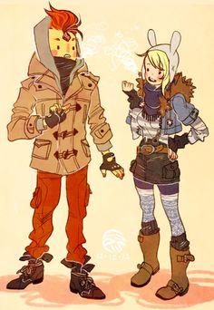 Adventure Time Flame Prince & Fionna