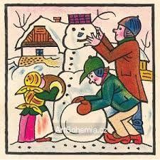 Výsledek obrázku pro josef lada jaro Bohemian Art, Vintage Christmas Cards, Fairy Tales, The Past, Illustrations, Poster, Pictures, Fictional Characters, Photos