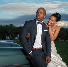 Kabelo Mabalane and his wife Gail celebrate 2 years of marriage.