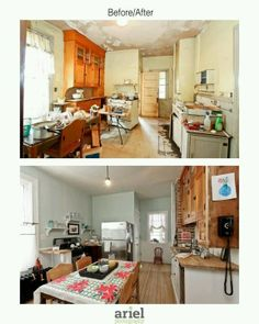 rehab addict | Rehab addict - Case Ave kitchen. Before/ after by ... | Rehab Addict