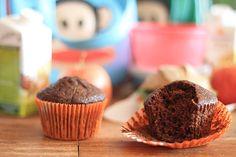Lancheira escolar e uma receita super fácil de muffin de abobrinha e cacau