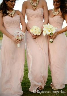Bridesmaid Dresses Northern Ireland 2015 Blush Pink Bridesmaids Dresses Cheap Long Sweetheart Chiffon Maid Dress Hand Pleats Back Lace Up Summer Garden Beach Bridesmaid Dresses Belsoie Bridesmaid Dress From Engerlaa, $66.76| Dhgate.Com