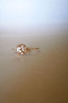 My morganite & diamond wedding set. Rose gold    perfect wedding ring.. simple, delicate, and rose gold