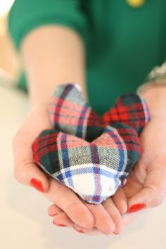 Flannel Hand Warmers.  Cold Hands Warm Hearts!
