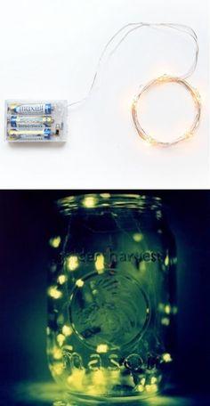 Fireflies in a Mason Jar #Decorative - 101 Gardening