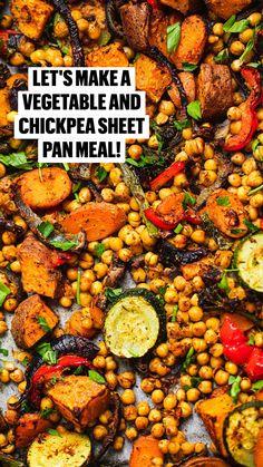 Tasty Vegetarian Recipes, Vegan Dinner Recipes, Vegan Dinners, Vegetable Recipes, Whole Food Recipes, Diet Recipes, Cooking Recipes, Vegan Recipes Vegetables, Healthy Chickpea Recipes