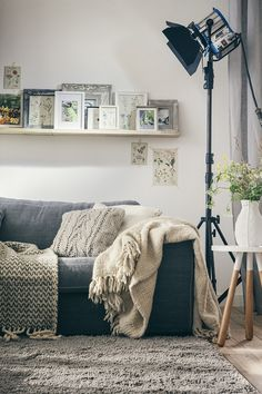 "Styling and room-set photography by Lukkien. Stylist Babette: ""From the cozy sofa to the industrial lamp, this living area strikes a nice balance between comfort and style. Therefore, this room-set is speaking to both a traditional market and a more contemporary demographic""."