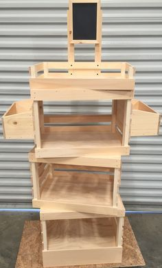 rustic wood farmers market basic display box - Google Search
