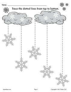 FREE Printable Winter Snowflakes Line Tracing Worksheets! - FREE Printable Snowflake Line Tracing Worksheet with Straight Lines! Free Preschool, Kindergarten Worksheets, Preschool Crafts, Hobbies To Try, Hobbies That Make Money, Snow Theme, Winter Theme, Winter Activities, Preschool Activities