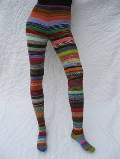 For the ambitious sock knitter  Ravelry: Sock Opus pattern by Michelle Hunter. I can't even imagine taking on this project.