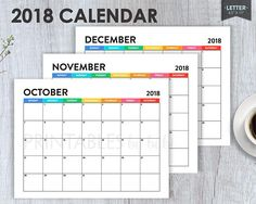 2018 18 academic calendar template