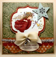 Hello everyone, another card added to the Christmas card pile, ready to be stamped, sealed and delivered. Winter Cards, Holiday Cards, Christmas Cards, Christmas Ornaments, Holiday Decor, Card Making Tips, Angel Cards, Christmas Angels, Hello Everyone