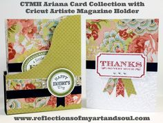 Stampers with an Attitude Blog Hop ~ Ariana Artwork with an Attitude ~ CTMH Ariana Card Collection with Cricut Artiste Magazine Holder by Pamela O'Connor