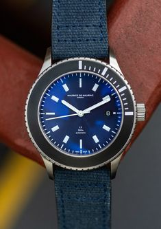 Water resistant luxury watch for men handcrafted in Zurich by Maurice de Mauriac. Photo: Hodinkee #waterresistantwatch #luxurywatches #watchesformen #swissmadewatches