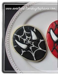 Sweet Creations by Stephanie: Spiderman Cookies