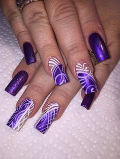 Electric Purple  by AlysNails - Nail Art Gallery nailartgallery.nailsmag.com by Nails Magazine www.nailsmag.com #nailart