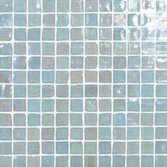 Monochromatic Glass Tile 1x1 Cayman Blue Pearl