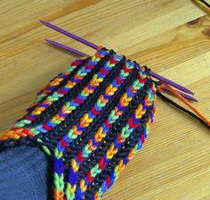 Ravelry: Uberib pattern by Destiny's Knits Knit Slippers Free Pattern, Crochet Socks, Knitted Slippers, Slipper Socks, Knit Crochet, Knitting Stitches, Knitting Socks, Hobbies And Crafts, Diy And Crafts