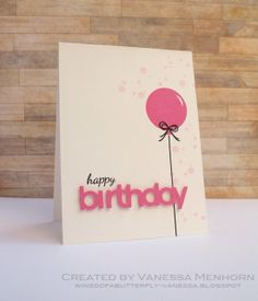 made by vanessa. birthday balloon card. could work with MFT party balloons too!!!