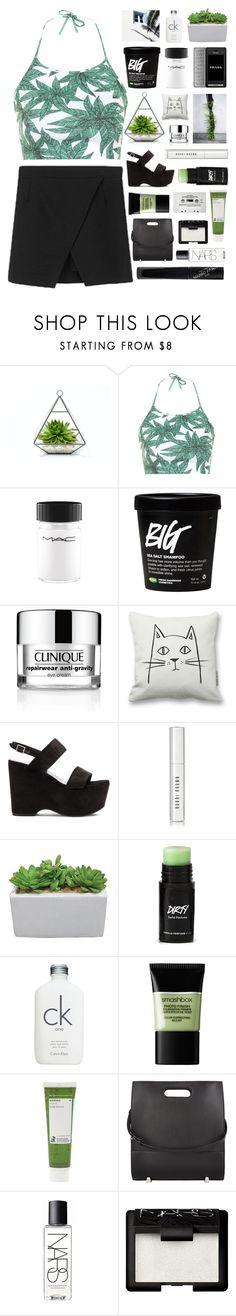 """""""Untitled #2281"""" by tacoxcat ❤ liked on Polyvore featuring Motel, MAC Cosmetics, Prada, Clinique, Yves Saint Laurent, Bobbi Brown Cosmetics, Calvin Klein, Smashbox, Korres and Alexander Wang"""