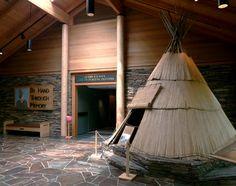 High Desert Museum Native American dwelling display  Bend, Oregon
