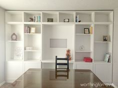Worthington Ave: Ikea-Hack: Built-in Library Wall