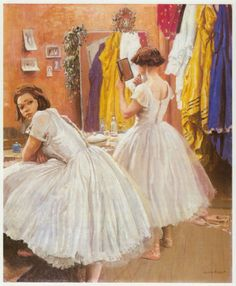 Ballet Dressing Room Drury Lane Theatre Laura Knight vintage print 1988 in mount in Art, Prints, Modern (1900-79), Open Editions | eBay