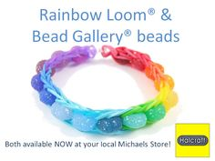 Rainbow Loom and Bead Gallery Beads Rainbow Bracelet Photo Tutorial Felts Felts Flemmings . Rainbow Loom Tutorials, Rainbow Loom Patterns, Rainbow Loom Creations, Rainbow Loom Bracelets, Bead Loom Bracelets, Beaded Bracelet, Loom Board, Crazy Loom, Loom Love