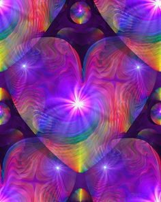 """""""Chakra Heart"""" is a swirling psychedelic art print in my energy art line of chakra decor. This reiki art digital painting would be a bright and energized addition to a meditation room, yoga or healing"""