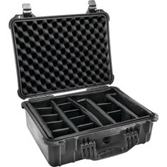 PELICAN 1520-004-110 Case with Padded Divider (1520 Case; Dim: 18.06L x 12.89W x 6.72H)