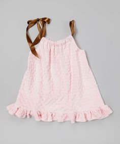 This Lolly Gags Baby Pink Minky Pillowcase Dress - Infant, Toddler & Girls by Lolly Gags is perfect! #zulilyfinds