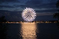 Canada Day across Kempenfelt Bay Barrie Ontario