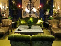 Moss Green Velvet Sofa and chairs Decor, Green Sofa, Home, Victorian Gothic Decor, Decor Inspiration, Peacock Decor, Green Velvet Sofa, Green Rug, Enchanted Home