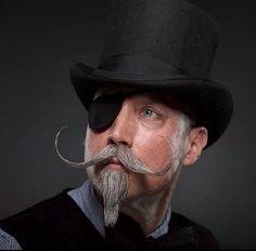 Handlebar Mustache and Top hat Great Beards, Awesome Beards, Handlebar Mustache, Beard No Mustache, Pompadour, Facial Hair, Bearded Men, Shaving, Moustaches
