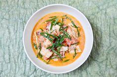Curry de poisson facile, tomates et lait de coco