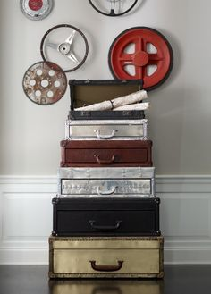 Here is a visual taste of the many home and furniture styles that Four Hands is currently offering retailers and designers across North and South America. Steamer Trunk, Furniture Styles, Timeless Beauty, Vintage Leather, Home Furnishings, Beautiful Homes, Suitcase, Fancy