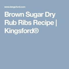 Brown Sugar Dry Rub Ribs Recipe | Kingsford®