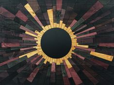 wood wall art  VENUSIAN ECLIPSE  wood artwooden por StainsAndGrains