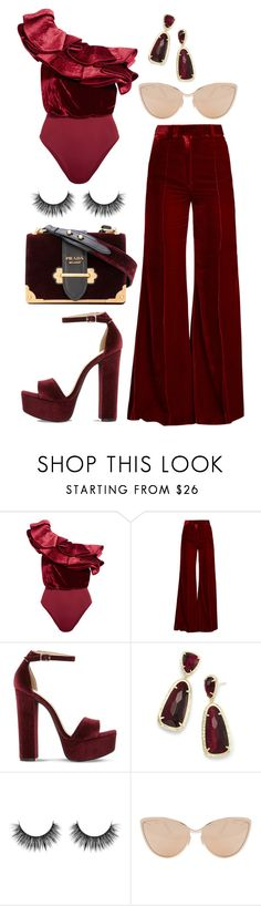 """""""Red Velvet BB"""" by reine-chanel on Polyvore featuring Johanna Ortiz, Racil, Steve Madden, Kendra Scott and Cutler and Gross"""