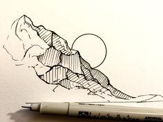 Drawing Doodles Sketchbooks Daily Drawings by Derek Myers - Doodle Drawing, Painting & Drawing, Watercolor Drawing, Karten Diy, Art Manga, Tatoo Art, Daily Drawing, Arte Pop, Pen Art