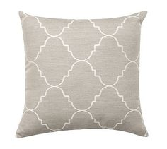 Sunbrella® Trellis Reversible Jacquard Indoor/Outdoor Pillow #potterybarn