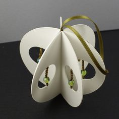 Paper Ornament with Beadwork