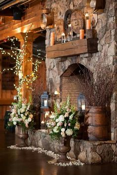 The Pavilions at the Angus Barn - Raleigh NC. Beautiful double-sided fireplace!