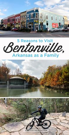 Bentonville, Arkansas is a family getaway destination that checks all the boxes: food, art, outdooradventure, beauty and fun! Family Vacation Destinations, Family Vacations, Family Trips, Arkansas Vacations, Rogers Arkansas, Bentonville Arkansas, Family Adventure, Travel Usa, Travel Tips