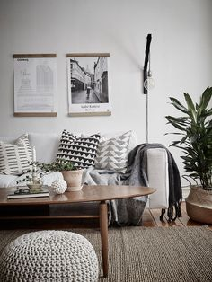 Livingroom, natural materials