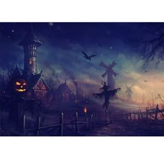 Find the best Anime Halloween Wallpaper on GetWallpapers. We have background pictures for you! Anime Halloween, Retro Halloween, Halloween Scarecrow, Halloween Village, Halloween Prints, Halloween Images, First Halloween, Scary Halloween, Happy Halloween