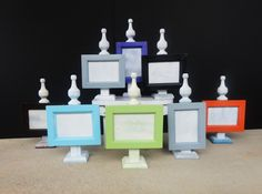 Distressed Finial Picture Frame